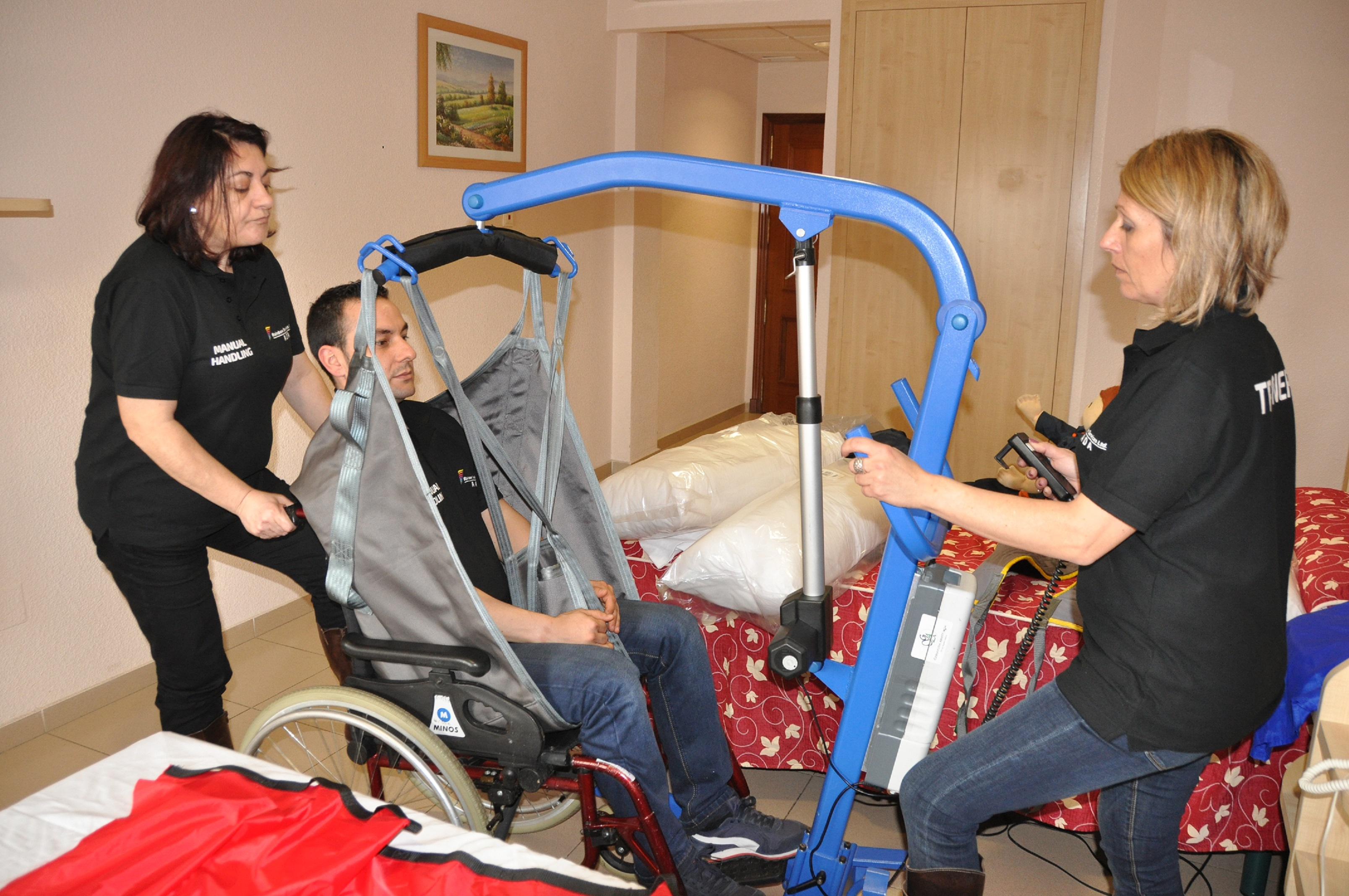 Manual handling for disability support workers.